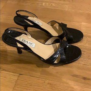 Vintage Isaac Mizrahi slingback black sandals
